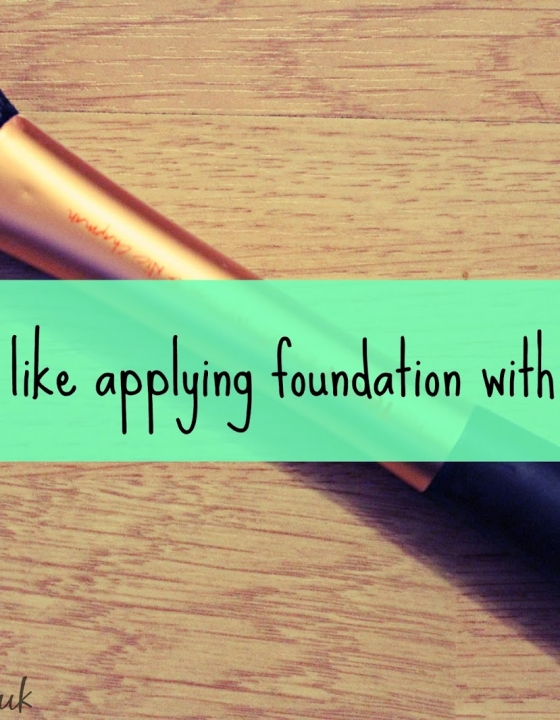 'It's like applying foundation with a hedgehog'