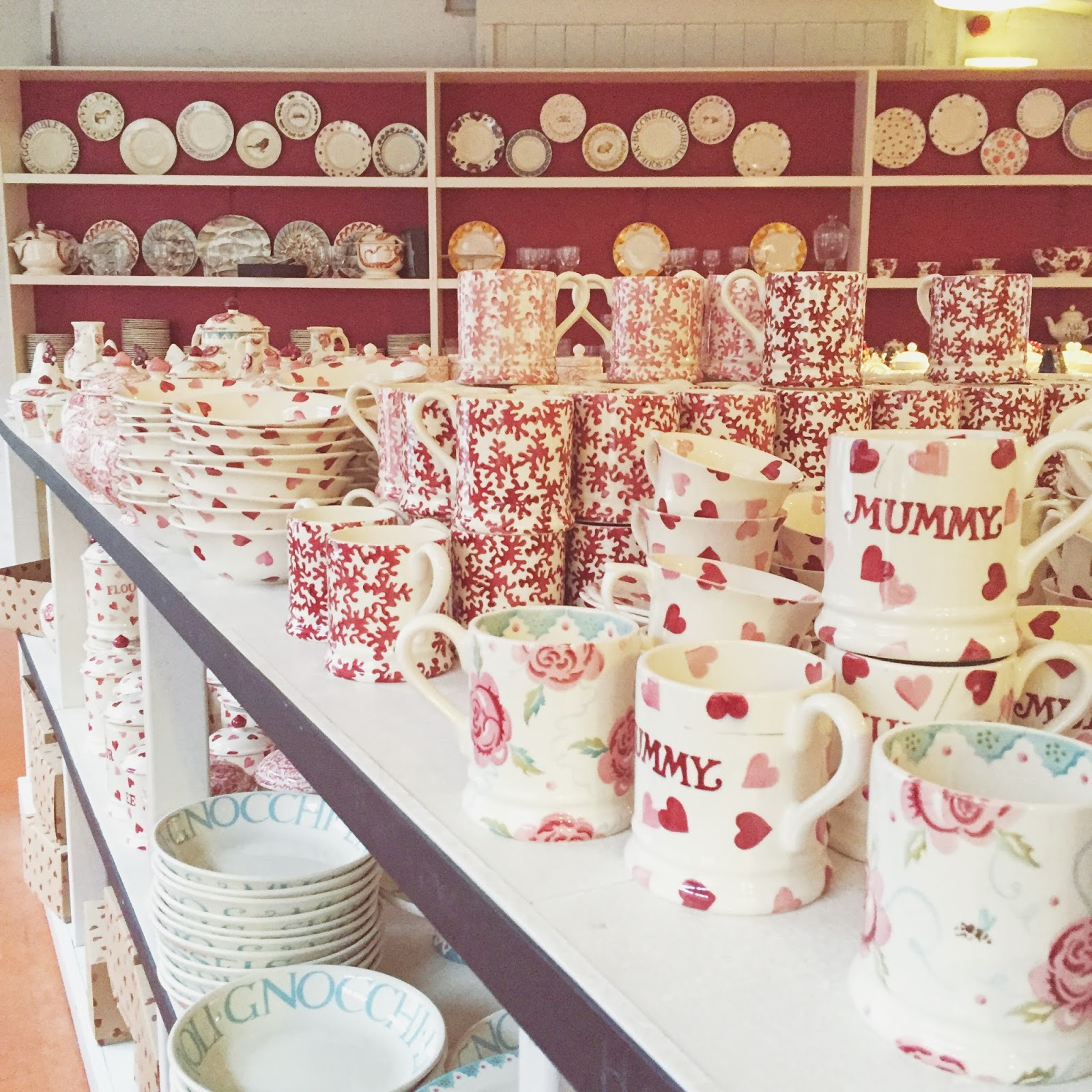 Emma Bridgewater, Factory, Stoke-On-Trent, Potteries, Mugs, Seconds, Pretty,