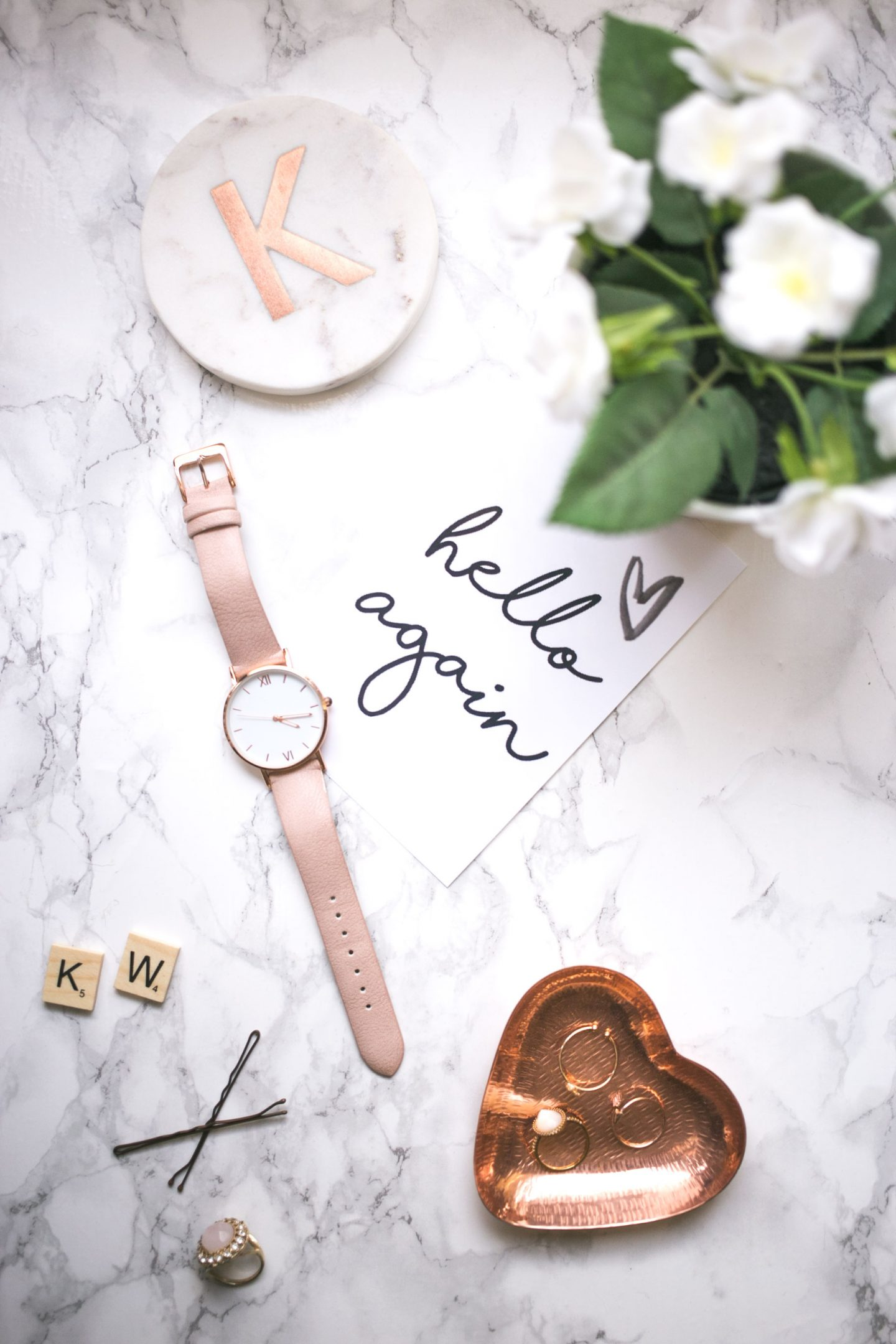 ©Katiewrites.co.uk Hello Again, Flatlay, Flat lay, Katie Writes Blog, Katie Writes,