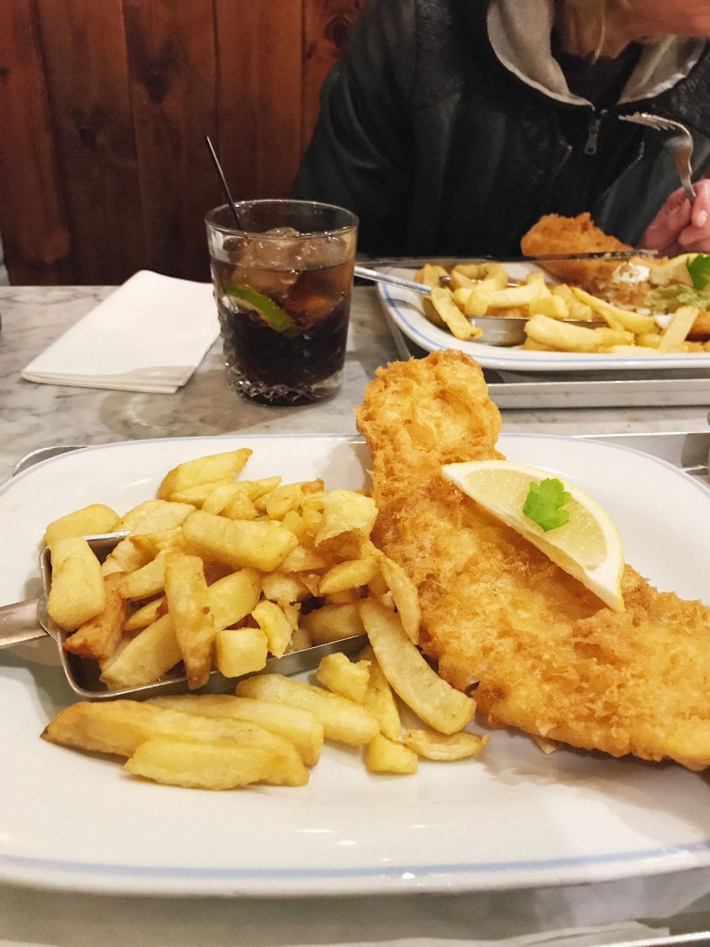 Fish and Chips at George's Great British Kitchen Nottingham