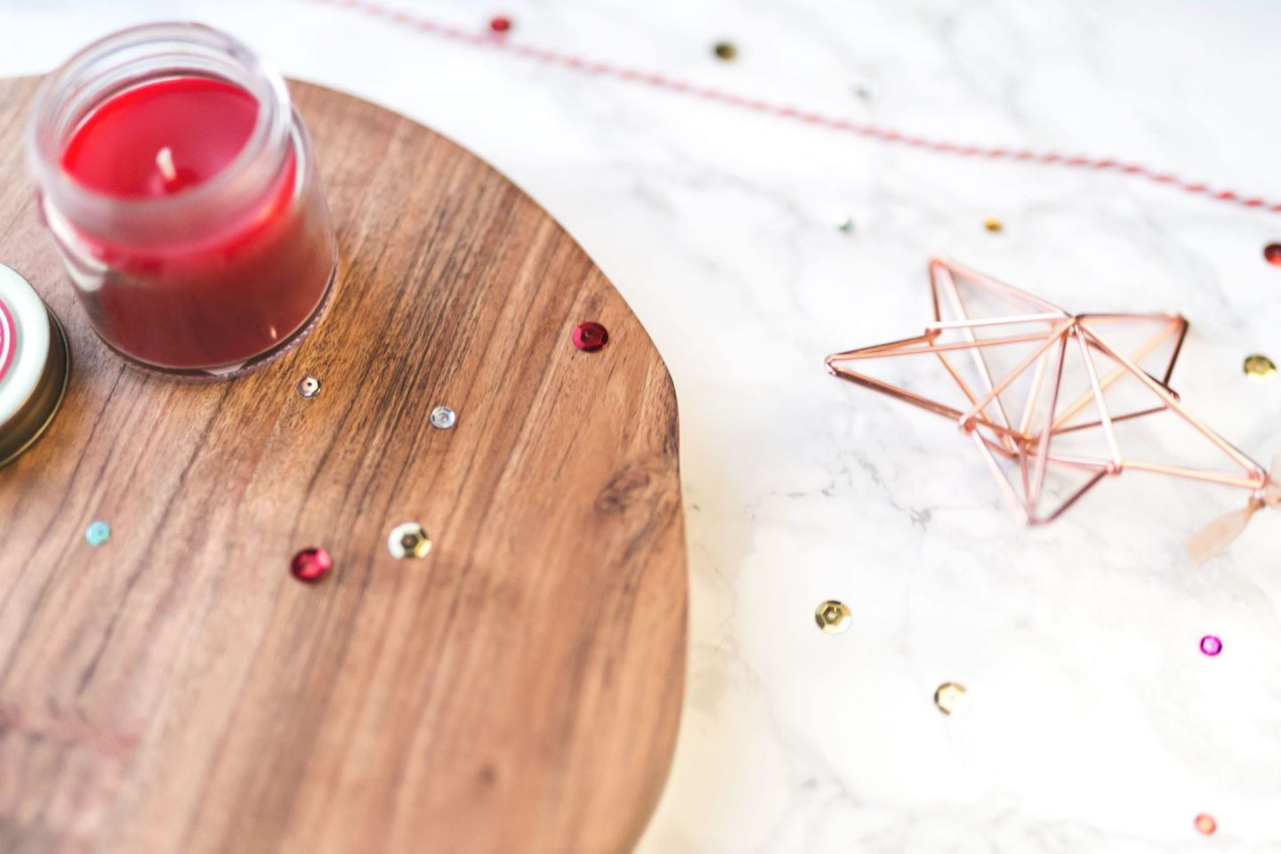 Christmas, flatlay, flat lay, star, candle, wood, marble, copper, Bloggers, British, UK, English Blogs, Katie Writes Blog, Katie Writes,