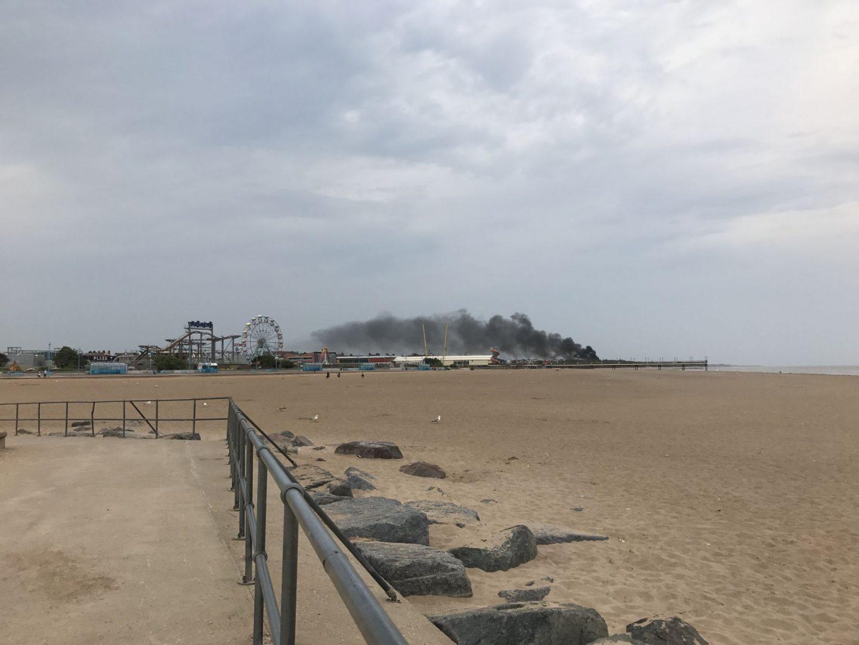 Skegness Beach Fire 2017, Katie Writes, ©Katiewrites.co.uk