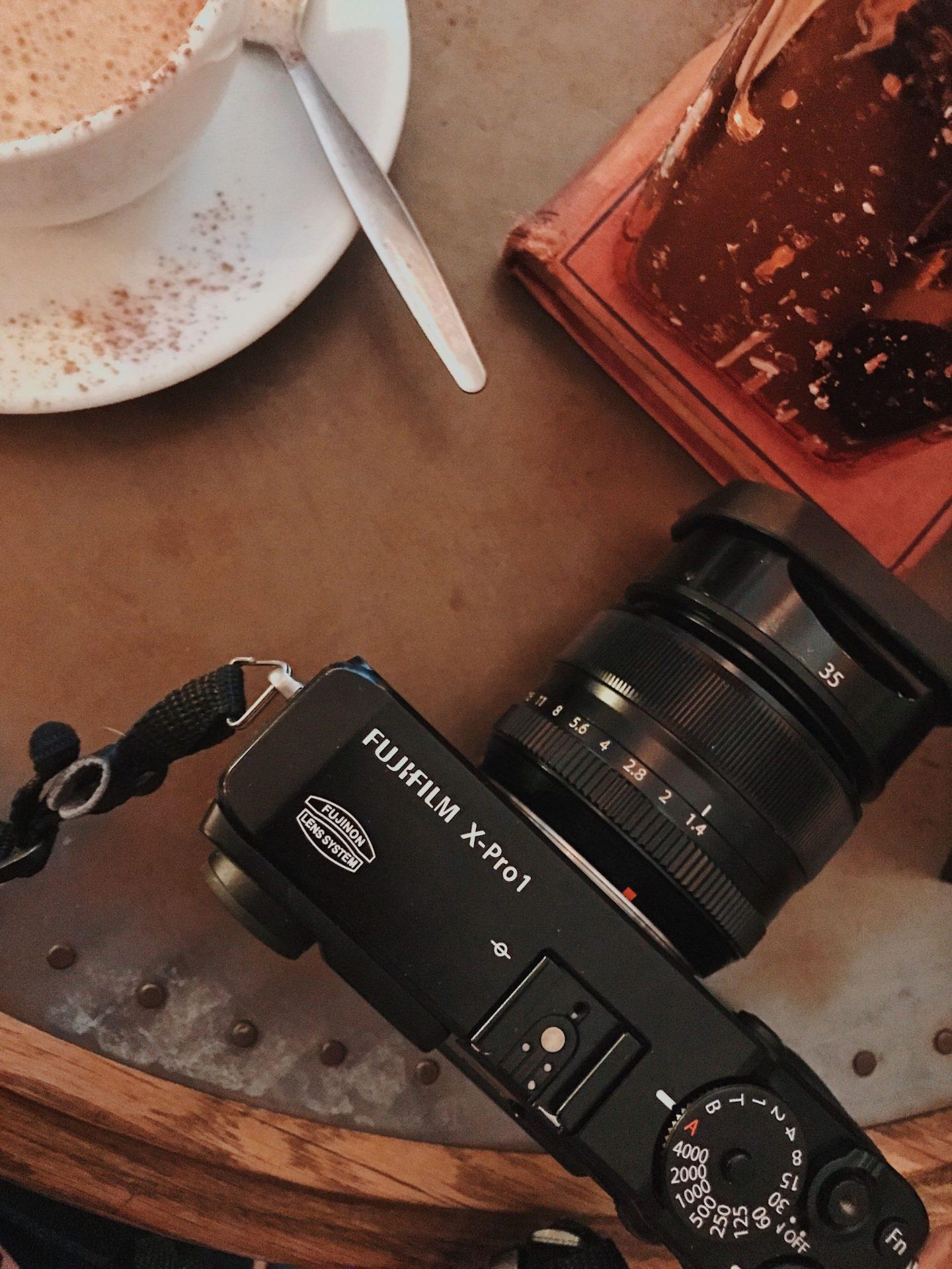 Flatlay, Fuji X Pro 1, Bookcafe Derby, Katie Writes, Fujifilm X-Pro 1, Fuji camera for bloggers, ©Katiewrites.co.uk