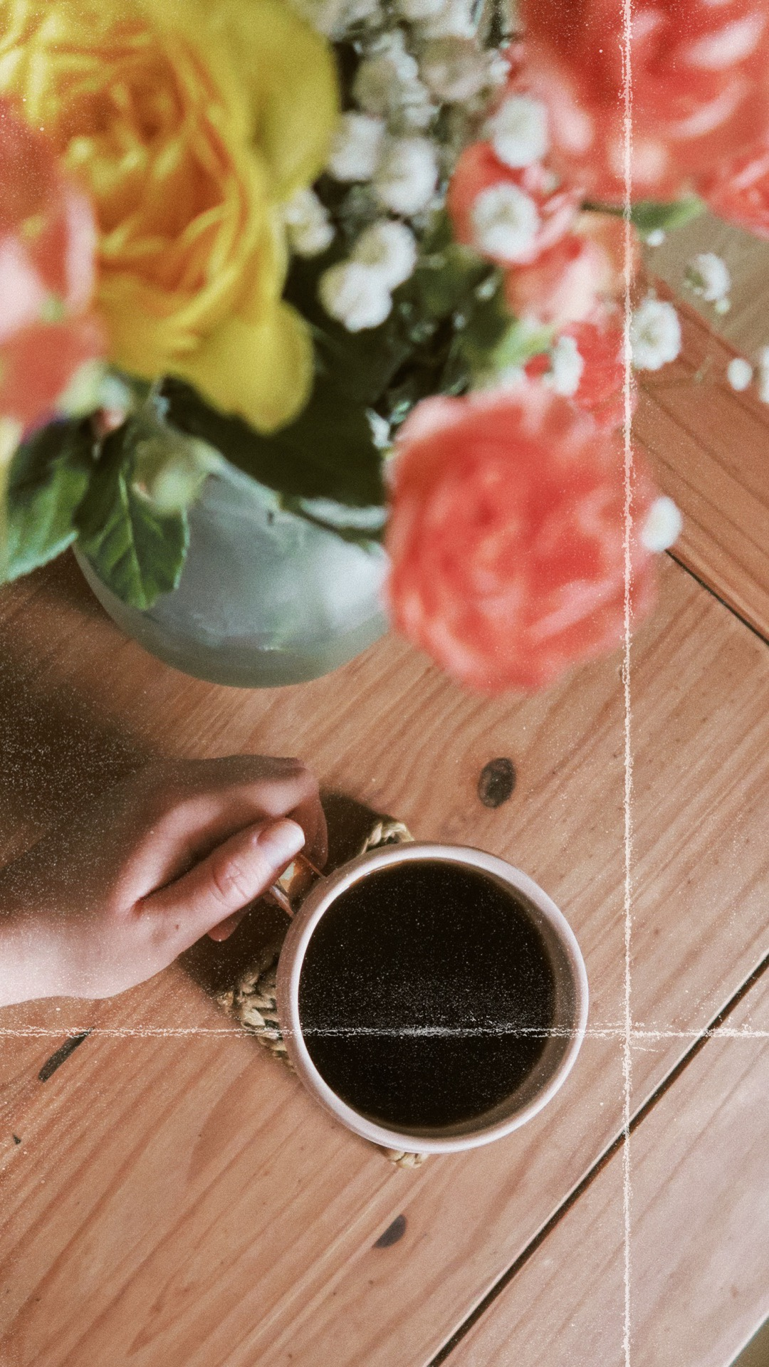 Flatlay, Coffee, Filmic, 35mm film style, app, filmic edit, Flowers, Hand, Beauty Blogs, Lifestyle Blogs, UK Blogs, Katie Writes, katiewrites, blog post recommendations, what blogs to read, blog recommendations, uk bloggers, katiebwrites, Katie Writes Blog,