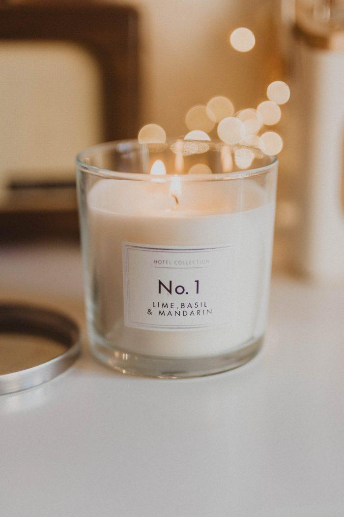 Aldi No. 1 Lime, Basil & Mandarin Candle