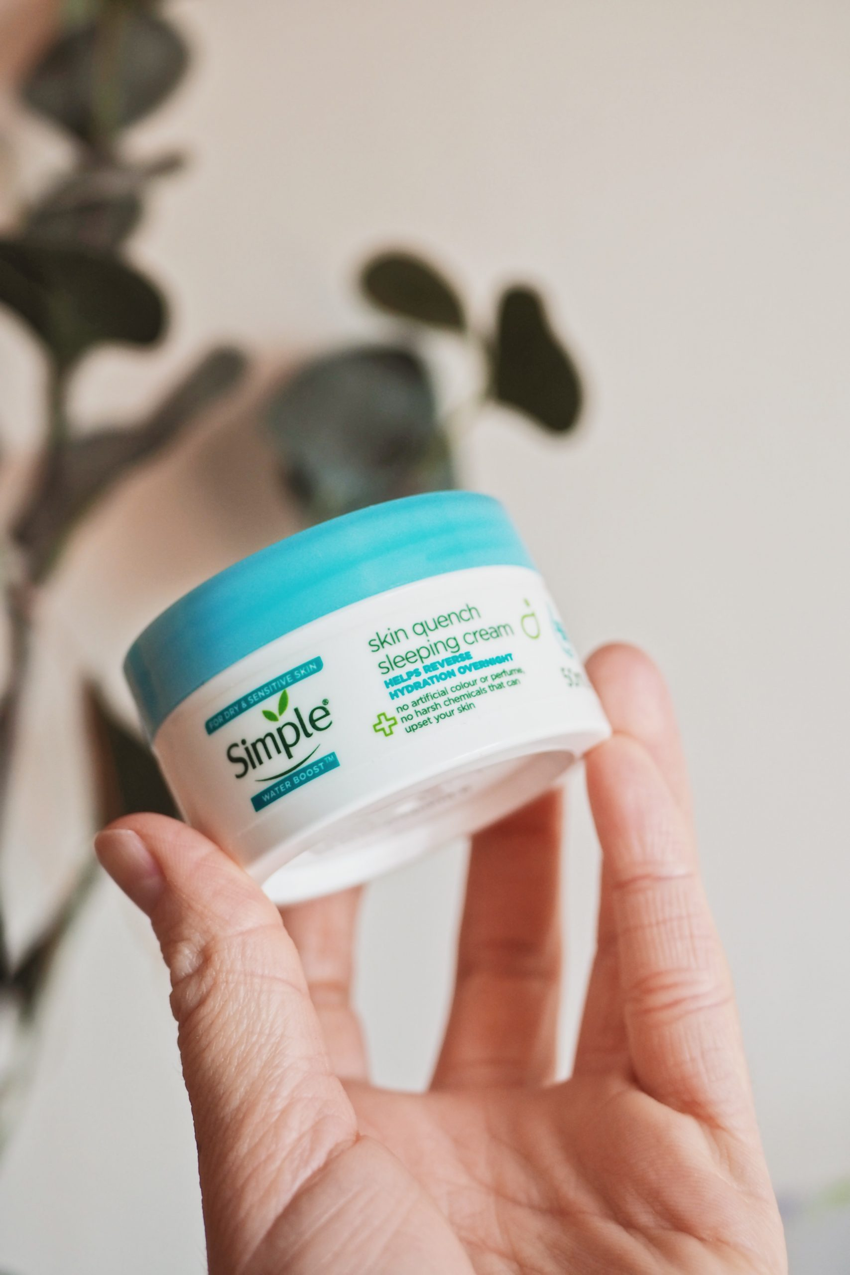 Simple Water Boost Skin Quench Sleeping Cream, Review, Simple Night Cream, Skincare,